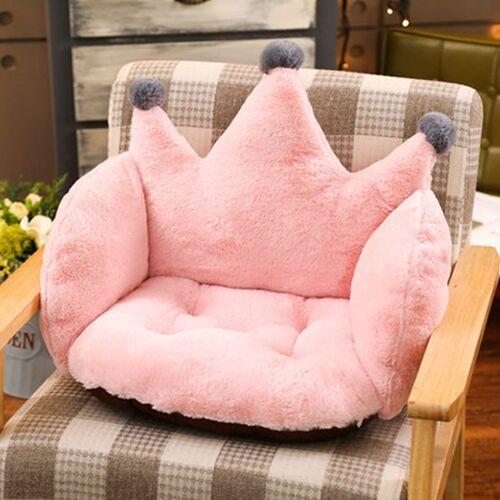 Thuiskantoor benodigdheden Crown shape konijn pluche antislip Cushion kussen grootte: 55 x 40 x 40cm (roze)