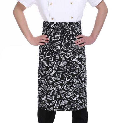 Eenvoudige stijl Unisex Chef ober Barista helft schort werkzaamheden schort