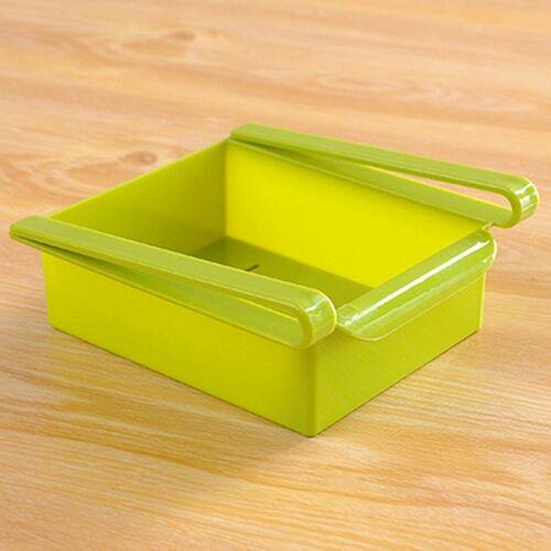 Lade stijl koelkast behoud laag opslag Rack (groen)
