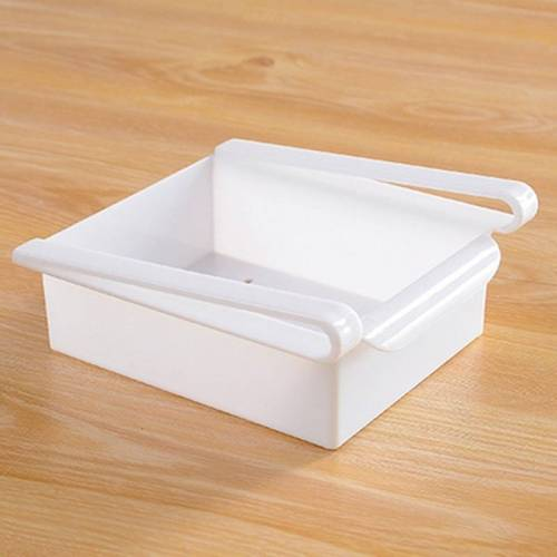 Lade stijl koelkast behoud laag opslag Rack (wit)