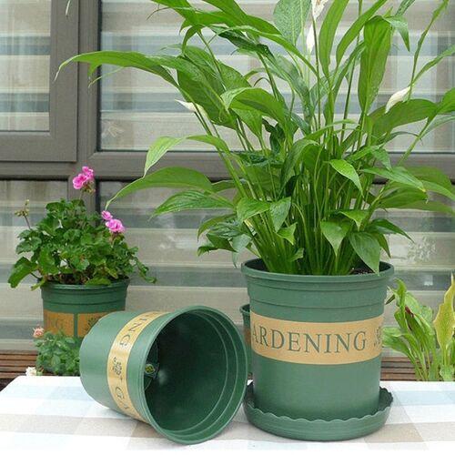 2 gallon bloem potten Plant kwekerij potten kunststof potten creatieve Gallons potten met lade grootte: 21 5 * 21 * 21 cm