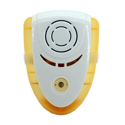 6W elektronische ultrasone elektromagnetische golf Anti mug Rat Insect Pest Repeller met licht EU stekker AC 90-240V(Yellow)