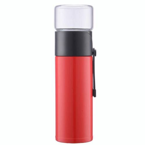 400ml 304 roestvrijstalen glas hoes Thermosbeker (rood)