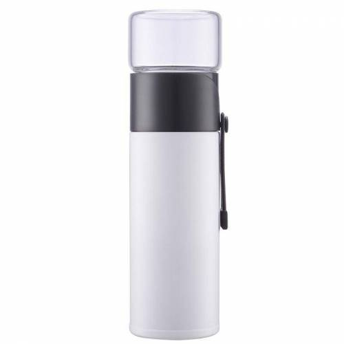 400ml 304 roestvrijstalen glas hoes Thermosbeker (wit)
