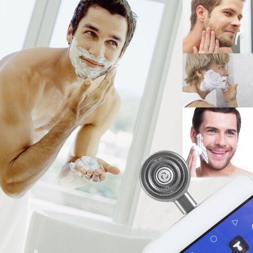 Huawei ENKAY Hat-Prins Mini Micro USB draagbare mannen Razor elektrische scheerapparaten voor Androïde Phone(Grey)