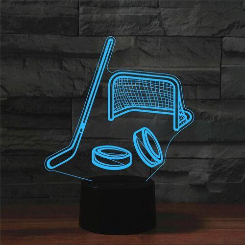 IJshockey vorm 3D kleurrijke LED Vision Lichttafel lamp USB touch versie