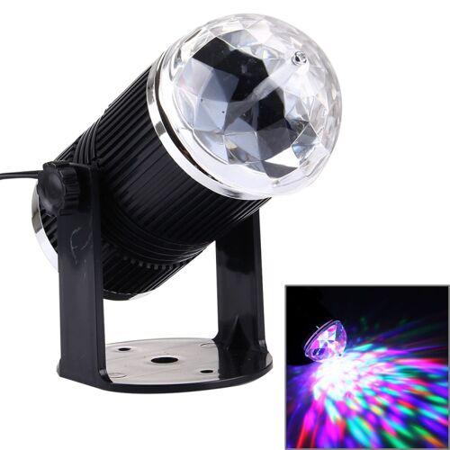 3W Mini roterende Magic Ball fase LED licht VS / EU Plug