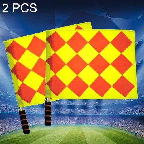 2 PC's voetbal Training Banners vlag voetbal scheidsrechter Patrol vlag