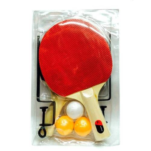 4 in 1 Tafeltennis racket + Tafeltennis + net + rack set