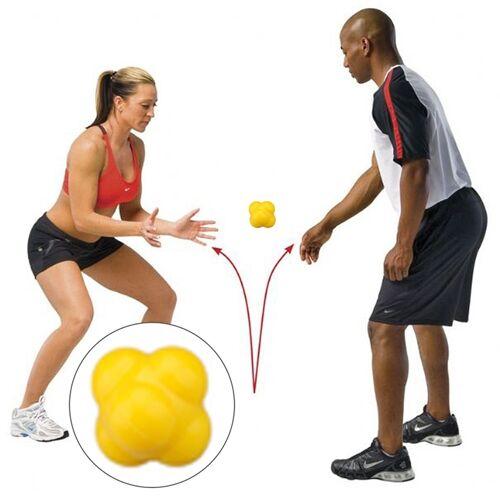 Zeshoekige reactie bal snelheid en behendigheid opleiding Ball opleiding Hand en Coordination(Yellow) van het oog