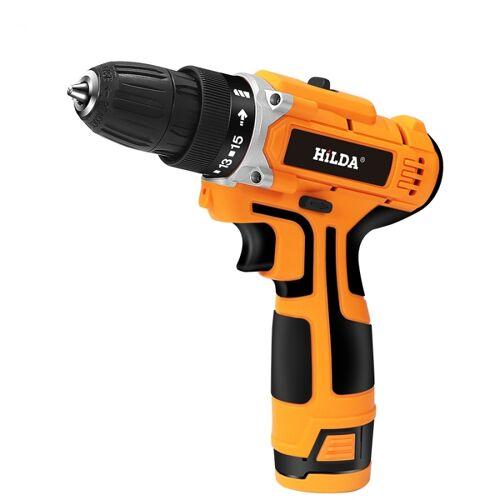 HILDA 16.8 V elektrische boor met lithium batterij oplaadbare 12V twee-Speed & #8203; & #8203; elektrische accu-schroevendraaier (oranje)