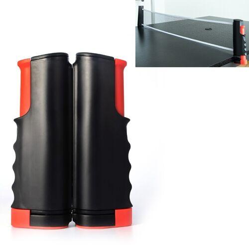 REGAIL intrekbare draagbare tafeltennis net rack (Zwart Rood)
