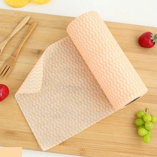 Non-woven wegwerp Washand doeken (50) (kleur: oranje)