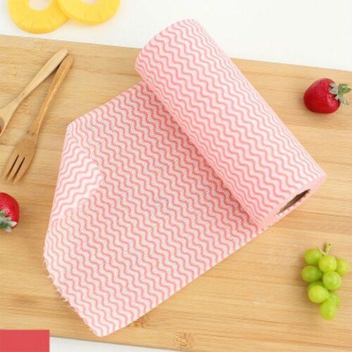 Non-woven wegwerp Washand doeken (50) (kleur: rood)