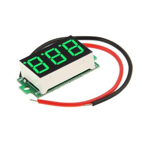 DC 3.2-30V groene Mini digitale spanning Panel lichtmeter