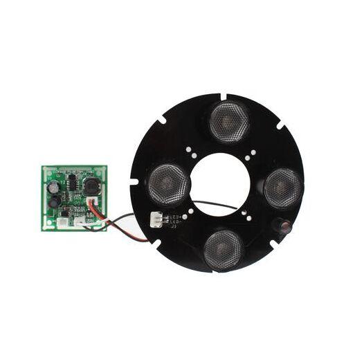 Array 4 LED infrarood lamp bord voor 6mm lens CCD camera infrarood hoek: 60 graden