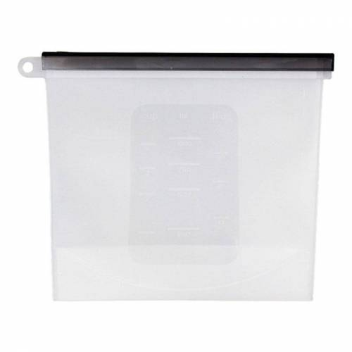 Food grade silicone vacuüm verzegeld Split Fresh-Keeping Bag (wit)
