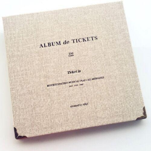 Bill Storage Boek Concerttickets Movie Ticket Ticket Ticket Favorieten Albums Boek (Grijs wit)