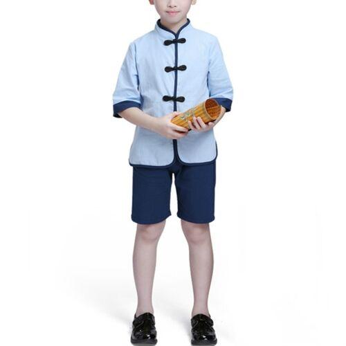 Kinderen Chinese Kleding HanFu School Uniformen Kids Set Grootte:110cm (Jongen)