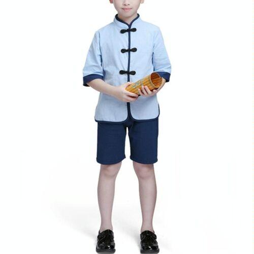 Kinderen Chinese Kleding HanFu School Uniformen Kids Set Grootte:120cm (Jongen)