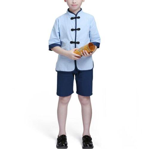 Kinderen Chinese Kleding HanFu School Uniformen Kids Set Grootte:130cm (Jongen)