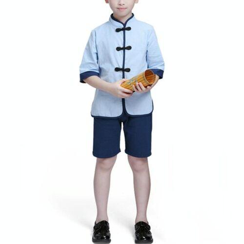 Kinderen Chinese Kleding HanFu School Uniformen Kids Set Grootte:170cm (Jongen)