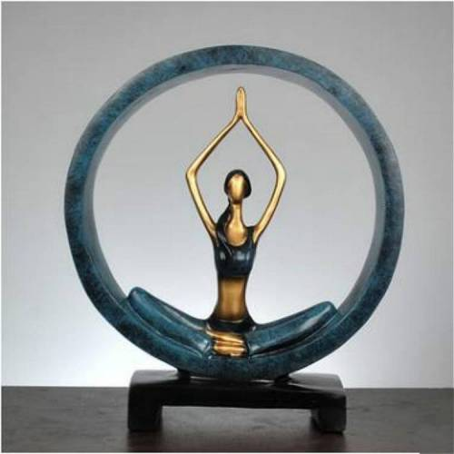 Moderne abstracte kunsthars yoga pose standbeeld Yoga Studio decoraties (aanbidding)