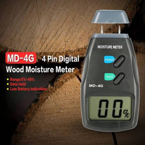 MD-4G 4 pins hout vochtmeter digitale LCD bodem graan vochtmeters