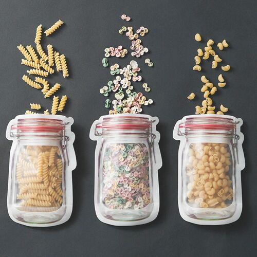 Fles patroon koelkast bevroren voedsel opbergtas grootte: groot 19 5 x 13.7 cm 3 packs