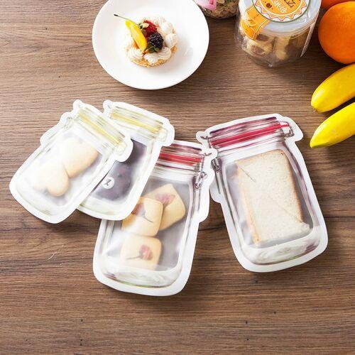 Fles patroon koelkast bevroren voedsel opbergtas grootte: medium 15.7 x 10.7 cm 4 packs