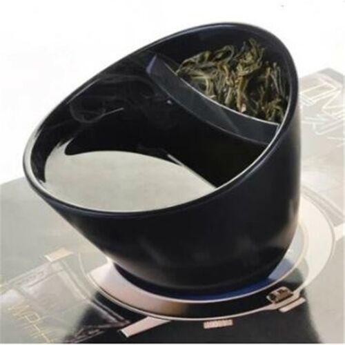 300ml creatieve filter plastic Tilt Tea Cup kantelen theekopje gepersonaliseerde Smart Tilt Cup (zwart)