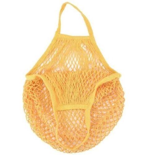2 PC'S mesh boodschappentas herbruikbare string fruit opslag handtas Totes vrouwen winkelen mesh netto geweven tas winkel kruidenier tote tas (geel)