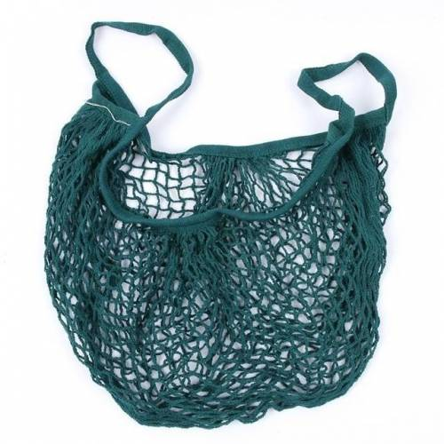 2 PC'S mesh boodschappentas herbruikbare string fruit opslag handtas Totes vrouwen winkelen mesh netto geweven tas winkel kruidenier tote tas (groen)