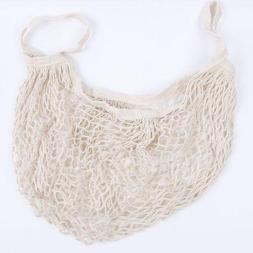 2 PC'S mesh boodschappentas herbruikbare string fruit opslag handtas Totes vrouwen winkelen mesh netto geweven tas Shop kruidenier tote tas (beige)
