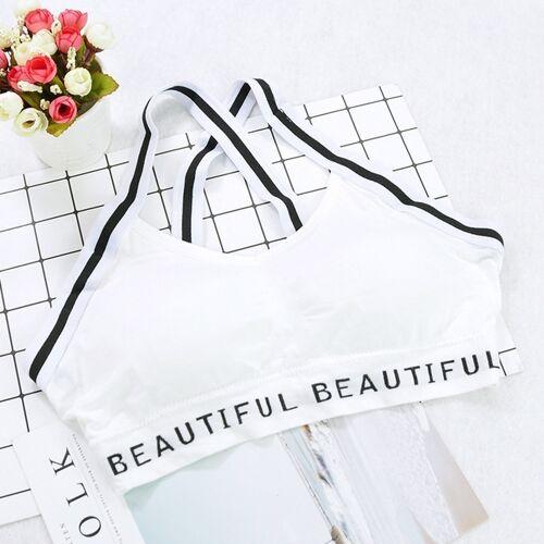 Brief hemd schoonheid terug cross sport beha grootte: One size (wit)