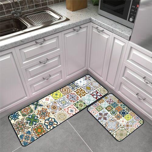 Moderne geometrische keuken anti-Skid mat tapijten tapijten grootte: 50x80cm + 50x160cm