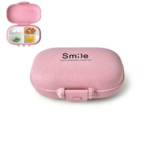 Portable Pill Boxs Mini Container Small Pill Box Splitters Container (Roze)