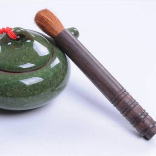 Creatieve theeceremonie zwart en Ebony Crystal pot pen thee set borstel