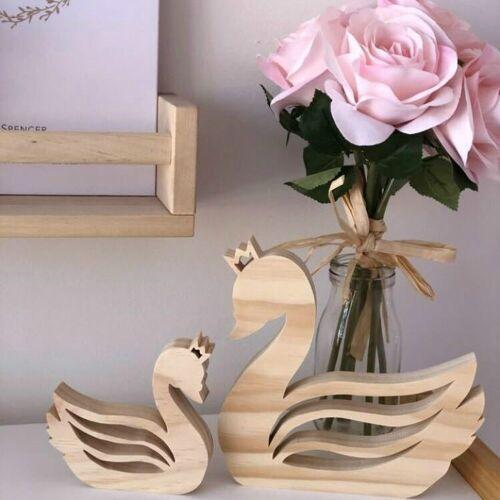 Kinderen kamer houten zwaan decoratie decoratieve instellen fotografie Props (set van zwanen)