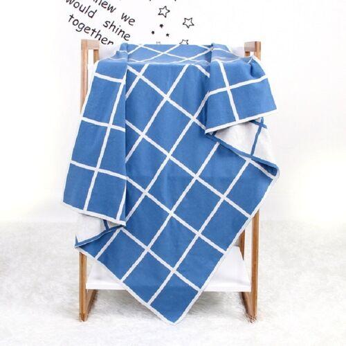Zachte Swaddle wrap dekens pasgeboren sofa beddengoed (denim blauw)