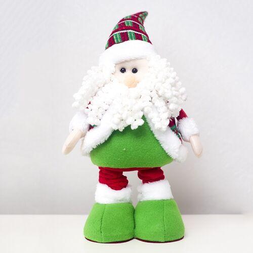 2 PC'S kerst High-hakken pluche pop decoratie benodigdheden (kerstman)