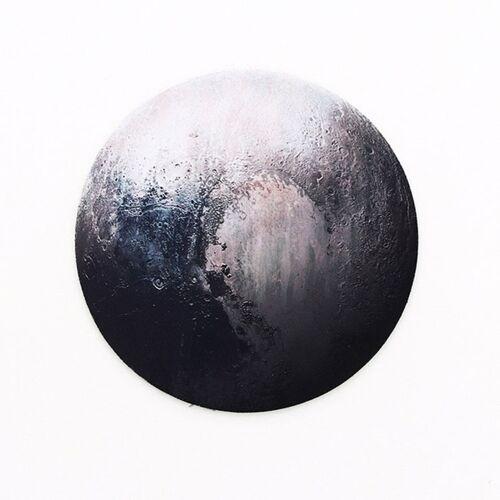 2 stuks 22cm leuke fruit serie ronde Mouse pad Desk pad kantoorbenodigdheden (Pluto)
