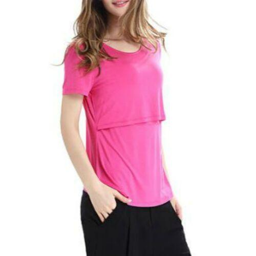 Long Sleeve Zwangerschap Breast Zwangerschapsverzorging Tops voor het voeden van kleding, grootte: S (Roze)