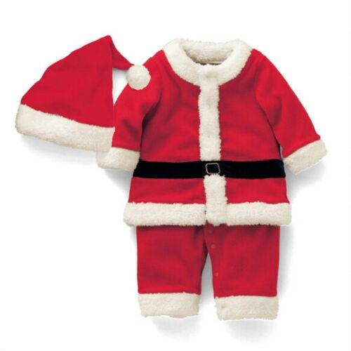 Jongen kerstman kostuum + hoed set hoogte: 80cm