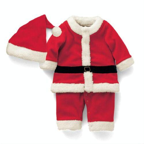 Jongen kerstman kostuum + hoed set hoogte: 130cm