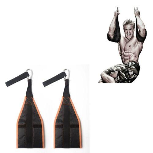 Huishoudelijke Abdominale Spier Training Belt Abdominal Training Device Pull-up Training Equipment (Orange Black)