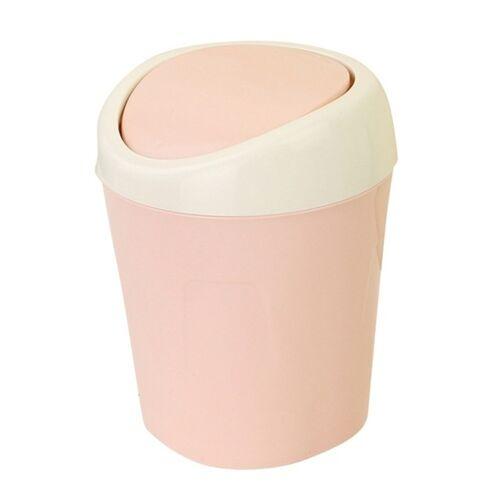 2 stks mini bed thuis woonkamer Flip trash bin (roze)