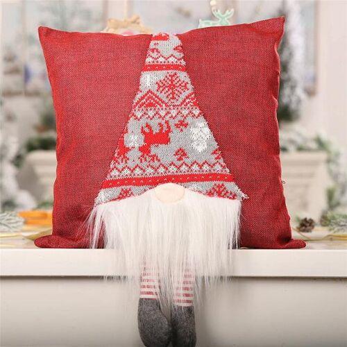 2 PC'S kerst Home Decoratie sofa auto kussen cover 3D pop kussen cover Home decor zonder kussen (rood)