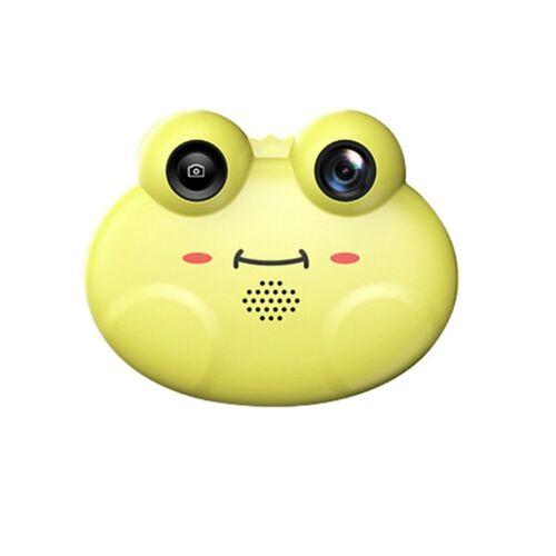 Kikker mini kinderen digitale HD camera één lens SLR Toy camera (geel)