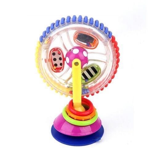 Baby Toy Roterende Sucker Tri-Color reuzenrad (Tri-Color Roterend reuzenrad)